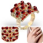 Szögletes, állítható nemesacél gyűrű ékszer, piros cirkónia kristállyal