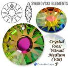 Swarovski kristályos ékszerszett - Sun 18 mm, Vitrail Medium