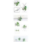 Swarovski kristályos zöld szett-S004 - nem kapható