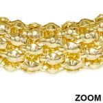 Sűrű szövésű, arany színű nemesacél karkötő