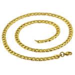 6 mm-es arany színű nemesacél nyaklánc ékszer