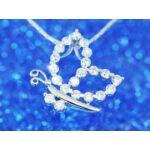 Pillangó Swarovski kristályos nyaklánc-131