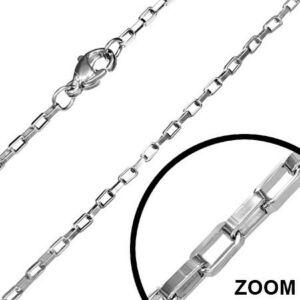 2mm-es  nemesacél nyaklánc ékszer