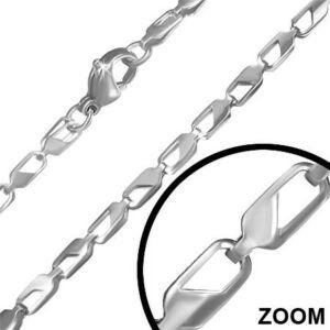 3 mm-es ezüst nemesacél nyaklánc ékszer