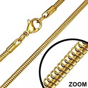 Arany színű nemesacél nyaklánc