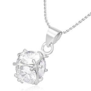 Crystal köves nemesacél medál ékszer