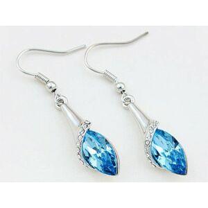 Csepp kék Swarovski kristályos fülbevaló-484 - nem rendelhető