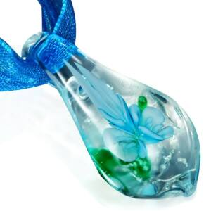 Csepp - Üveg nyaklánc - Jég