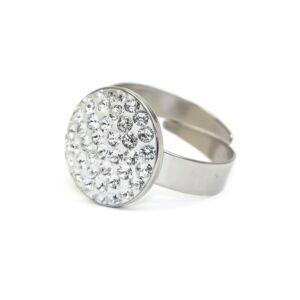 Dina SWAROVSKI® kristályos nemesacél gyűrű - Crystal