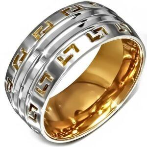 Dupla mintás nemesacél gyűrű ékszer