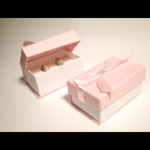 Elegáns jegygyűrű, páros gyűrű ékszer doboz
