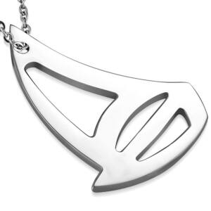 Ezüst színű, hajó formájú nemesacél medál ékszer