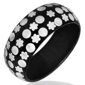 Fekete-fehér divatos karkötő ékszer