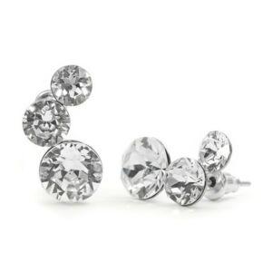 Félhold Swarovski® kristályos nemesacél fülbevaló - Crystal