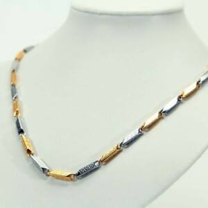 Görög mintás arany ezüst színű nemesacél nyaklánc
