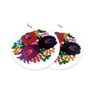 Hunika - Virágos bohém bizsu fülbevaló