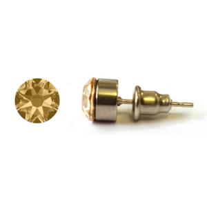 Jazzy SWAROVSKI® kristályos fülbevaló - Kerek foglalatos Golden Shadow