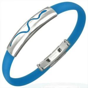 Kígyó mintás kaucsuk karkötő ékszer kék