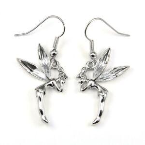 Pixie Swarovski kristályos fülbevaló - Ezüst színű