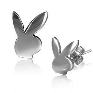 Playboy nyuszis nemesacél fülbevaló ékszer