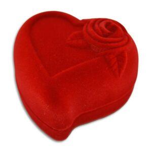Rózsás szív ékszertartó doboz