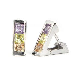 Sienna háromszög alakú Swarovski kristályos fülbevaló - Multi