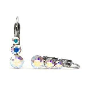 Snowman Swarovski® kristályos nemesacél fülbevaló - Crystal AB
