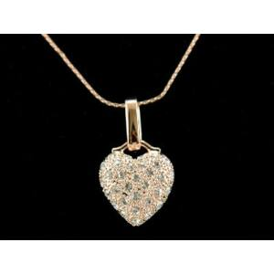 Swarovski kristályos nyaklánc szív alakú medállal