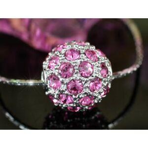 Swarovski pink kristályos nyaklánc