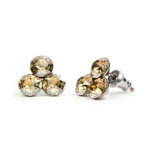 Swarovski® kristályos nemesacél fülbevaló - Golden Shadow