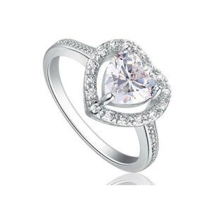 Szív alakú szintetikus gyémánt gyűrű 193-6