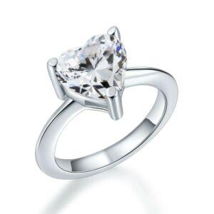 Szives kristályos gyémánt gyűrű-8