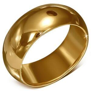 Vastag arany színű nemesacél karika gyűrű ékszer