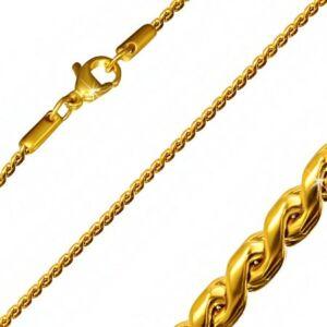 Vékony szemű aranyszínű nyaklánc