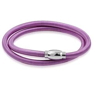 Violet színű rugalmas nyaklánc ékszer, mágneses zárral