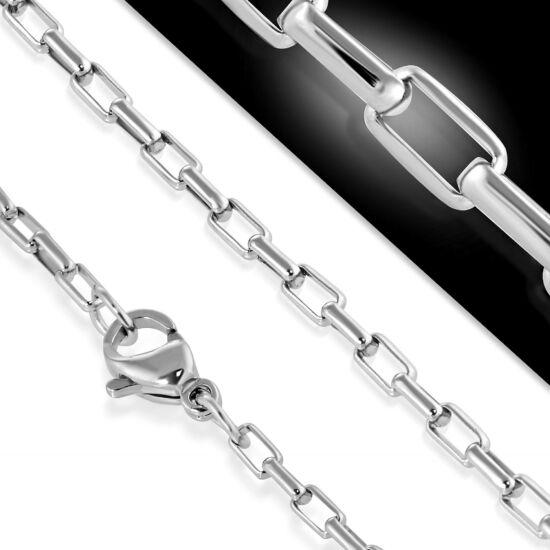 2 mm-es ezüst nemesacél nyaklánc ékszer