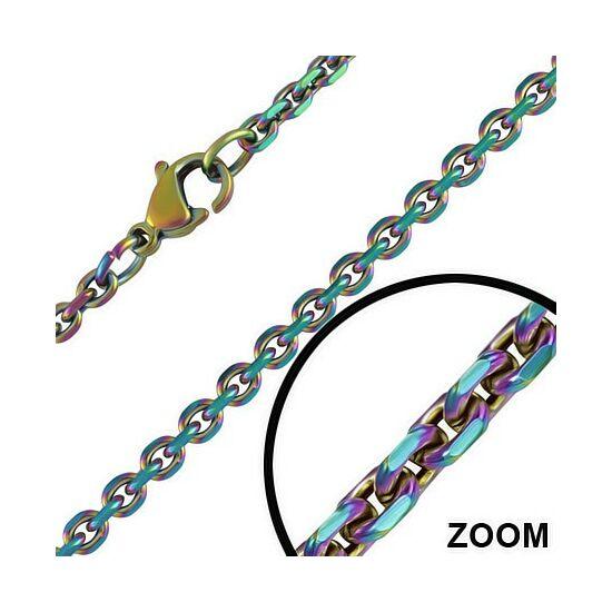 2 mm-es nemesacél nyaklánc ékszer