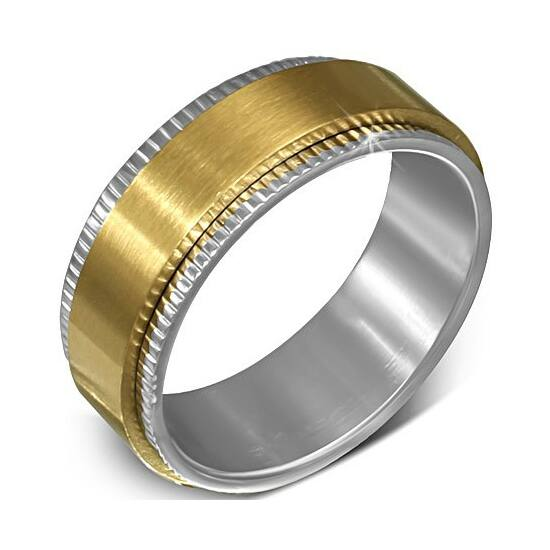 2 színű  nemesacél gyűrű ékszer