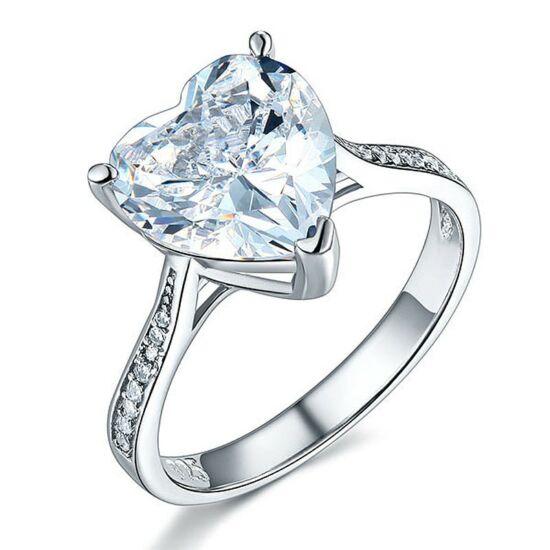 3.5 karátos ezüst gyémánt gyűrű-5