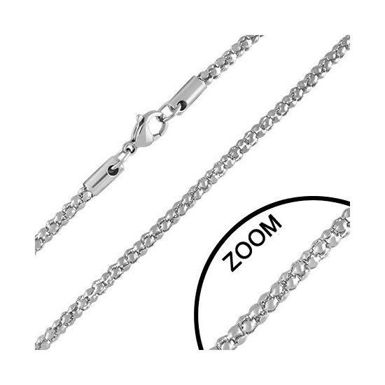 3 mm-es ezüst színű Steeel nemesacél nyaklánc ékszer