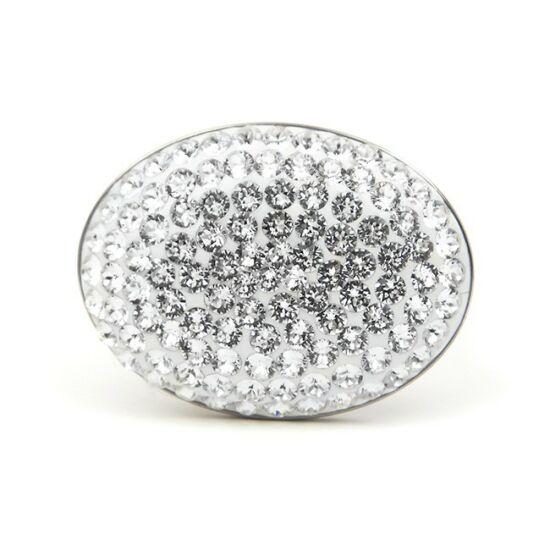 Adonael Swarovski® kristályos nemesacél gyűrű - Crystal