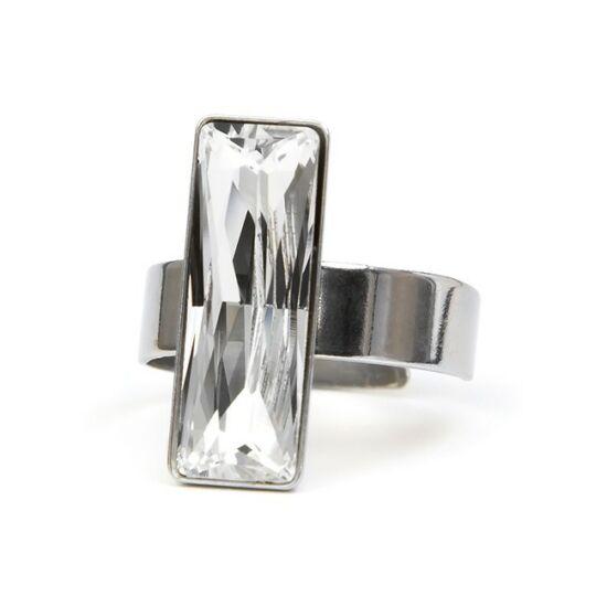 Aithen SWAROVSKI® kristályos nemesacél gyűrű - Crystal