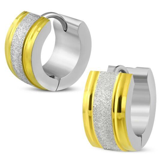 Arany és ezüst színű nemesacél fülbevaló ékszer