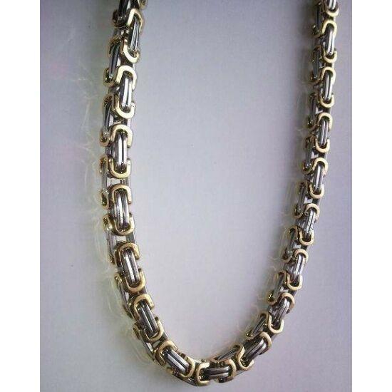 Arany ezüst színű nemesacél királylánc