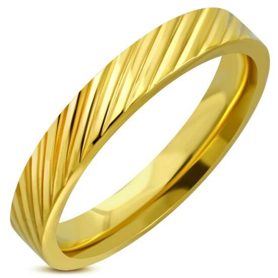 Arany nemesacél gyűrű ékszer