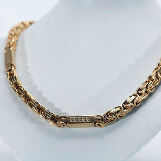 Arany színű görög mintás királylánc