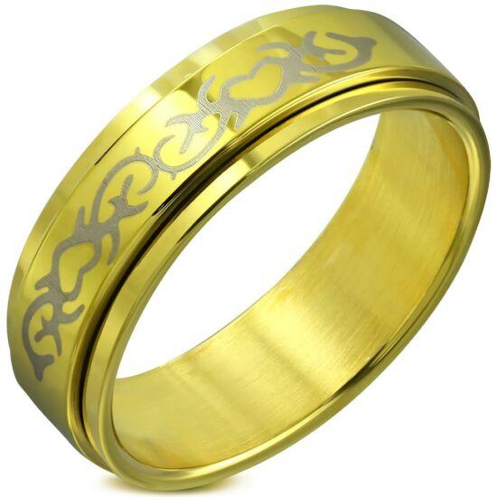 Arany színű nemesacél karikagyűrű-9