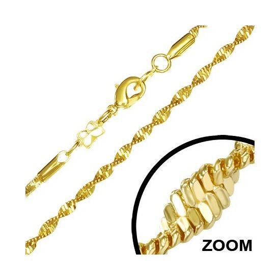 Arany színű spirál vezetésű nemesacél nyaklánc