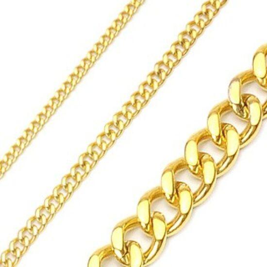 Arany színű vékony nemesacél nyaklánc