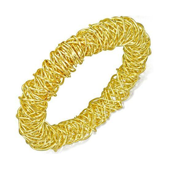 Bizánci arany színű nemesacél karkötő